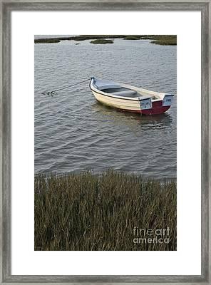 Boat In Ria Formosa - Faro Framed Print