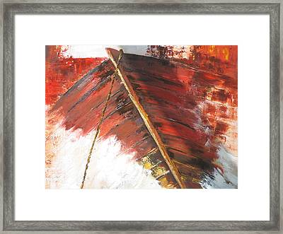 'boat In  Storm' Framed Print by Marina Harris