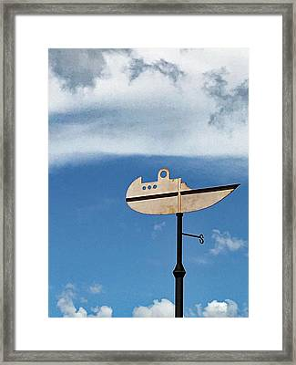 Boat In The Clouds Framed Print
