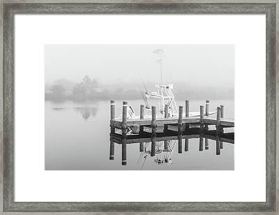 Framed Print featuring the photograph Boat In The Sounds Alabama  by John McGraw