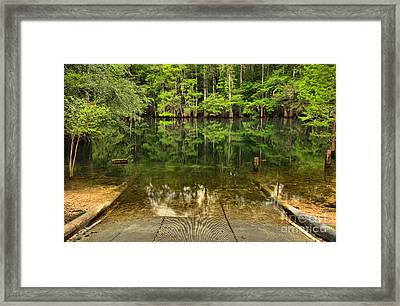Boat Launch At Manatee Springs Framed Print by Adam Jewell