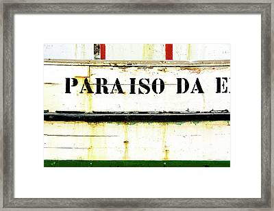 Framed Print featuring the photograph Boat Letters by Marion McCristall