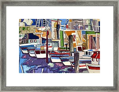 Boat Marina Framed Print by Mindy Newman