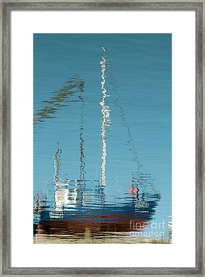 Framed Print featuring the photograph Boat Of Ripples by Wendy Wilton