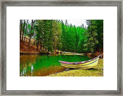 Boat Of The Lake Framed Print by Dale Stillman
