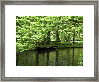 Framed Print featuring the photograph Boat On A Lake by Manuela Constantin