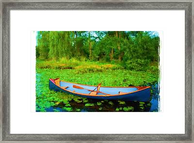 Boat On Bryant Pond Framed Print by Jonathan Galente