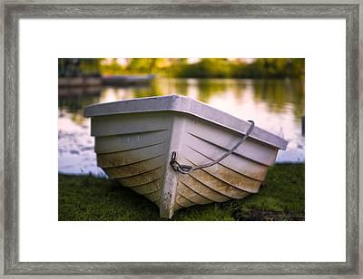 Boat On Land Framed Print