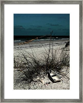 Boat On The Beach Framed Print