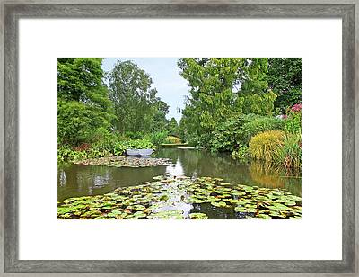 Framed Print featuring the photograph Boat On The Lake by Gill Billington