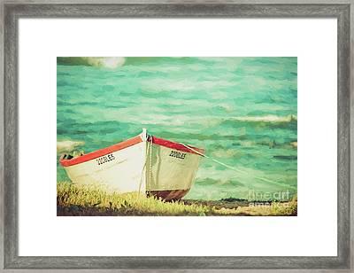 Boat On The Shore Framed Print
