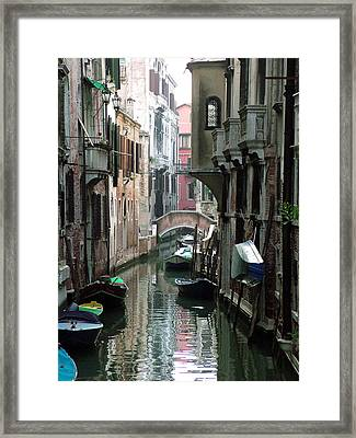 Boat On The Wall Framed Print
