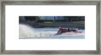 Boat On The Water Framed Print