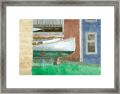 Boat Out Of Water - Portland Maine Framed Print