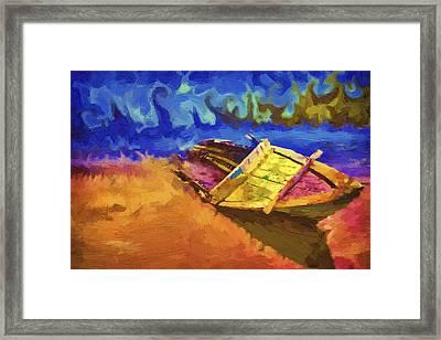 Boat Paint Framed Print