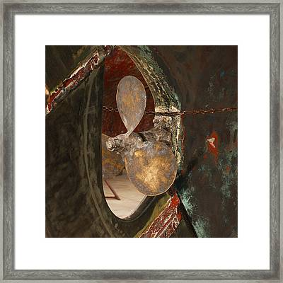 Boat Propeller Framed Print by Art Block Collections