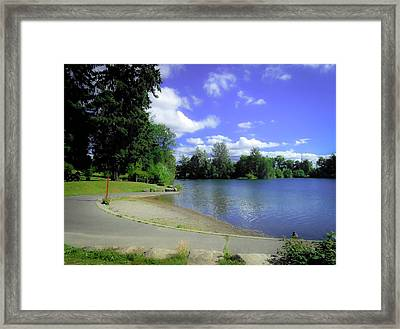 Boat Ramp Lake Wapato Framed Print