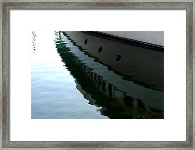 Boat  Reflection - Image 2 - Ver. 2 Framed Print