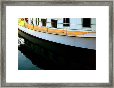 Boat  Reflection - Image 5 - Ver. 2 Framed Print