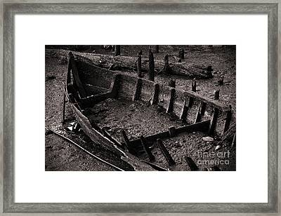 Boat Remains Framed Print