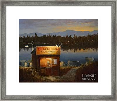 Boat Rentals Framed Print