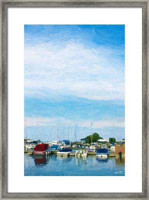 Boat Scene 1 Framed Print by Chamira Young