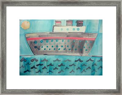 Boat Framed Print by Sean Cusack