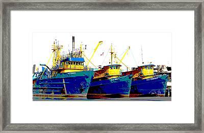 Boat Series 12 Fishing Fleet 2 Empire Framed Print