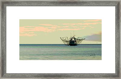 Boat Series 30 Shrimp Boat Gulf Of Mexico Louisiana Framed Print