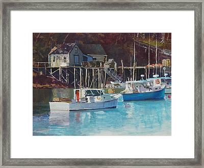 Boat Shack Framed Print by Robert Bissett