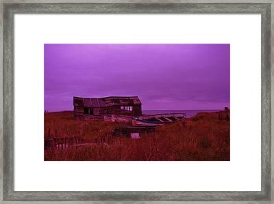 Boat Shed Blues Framed Print by Stuart Parnell