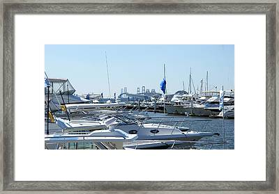 Framed Print featuring the photograph Boat Show On The Bay by Charles Kraus