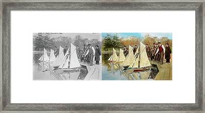 Boat - Sorry Kids This Ones Mine 1910 - Side By Side Framed Print by Mike Savad