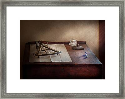 Boat - The Joy Of Sextant Framed Print by Mike Savad
