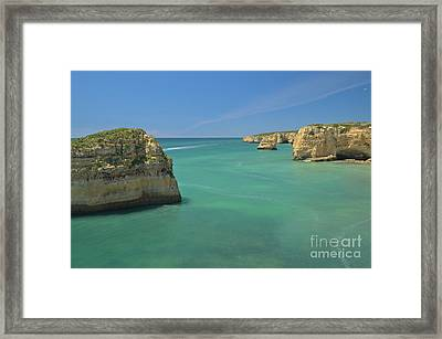 Boat Tour By The Cliffs In Algarve Framed Print by Angelo DeVal