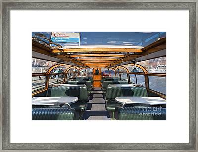 Boat Trip In The Channles Of Amsterdam Framed Print by Andre Goncalves