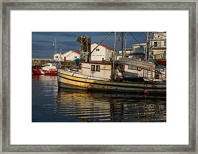 Boat With No Name Framed Print by Randy Hall