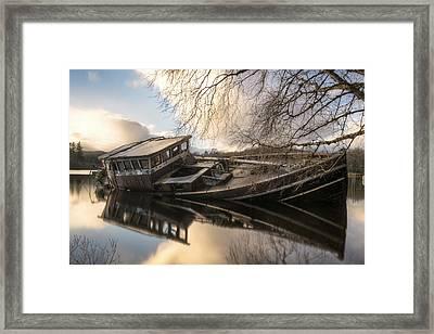 Boat Wreck On Loch Ness Framed Print