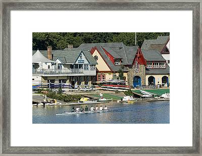 Boaters Row Framed Print