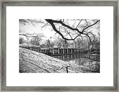 Boathouse Central Park Framed Print