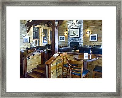 Boathouse Restaurant Framed Print by Michael Rutland