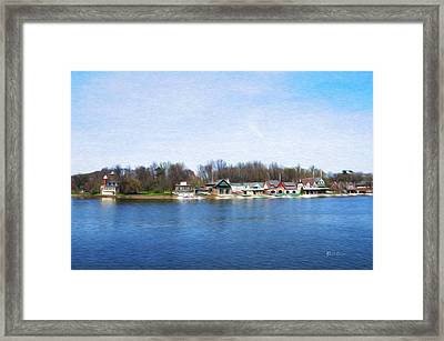 Boathouse Row At The Bend Framed Print