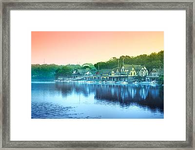 Boathouse Row Framed Print by Bill Cannon