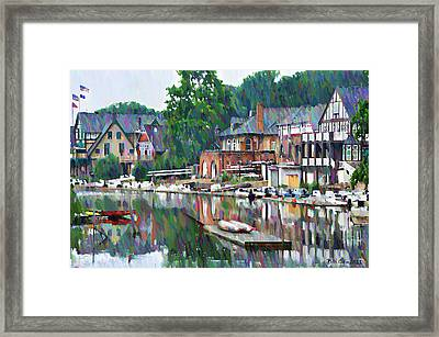Boathouse Row In Philadelphia Framed Print