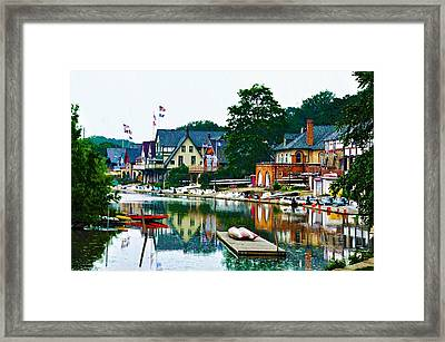 Boathouse Row In Philly Framed Print by Bill Cannon