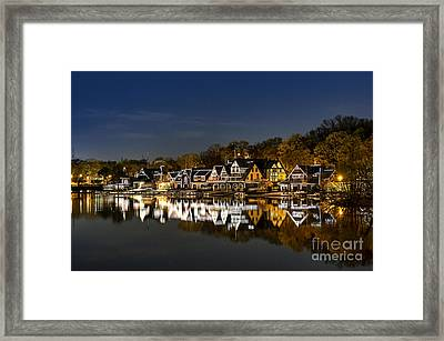 Boathouse Row Framed Print by John Greim