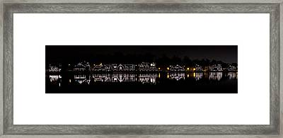 Boathouse Row Panorama - Philadelphia Framed Print by Brendan Reals