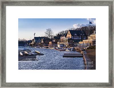 Boathouse Row Philadelphia Framed Print by John Greim