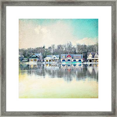 Boathouse Row Philadelphia Pa V1 Framed Print