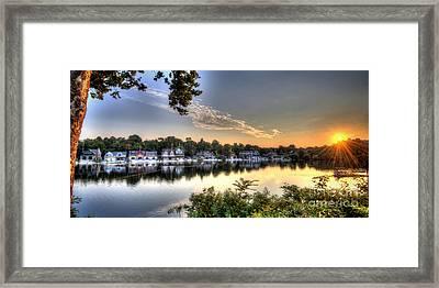 Boathouse Row Sunrise Framed Print by Mark Ayzenberg